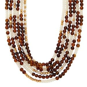INDIA HICKS NWT Golden Beach Necklace Tigers Eye🐅
